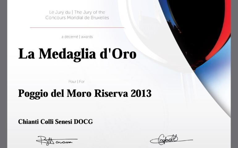 Chianti Colli Senesi 2013 D.O.P. took GOLD medal in Concours Mondial de Bruxelles 2017!