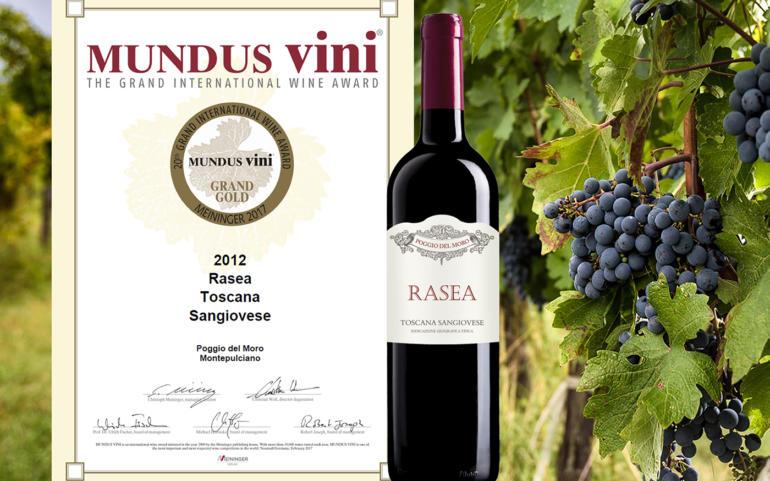 """RASEA"" 2012 is the GRAND GOLD winner of the 20th Grand International Wine Award MUNDUS VINI 2017!"