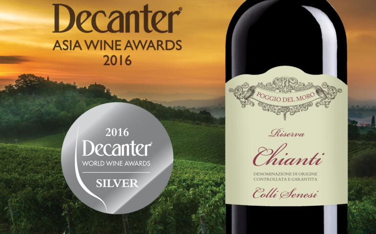 Our Chianti Riserva 2013, D.O.P. won the Silver Award with 90 points in internationally recognised competitions – the Decanter Asia Wine Awards 2016 (DAWA), the result of which was presented in Hong Kong.