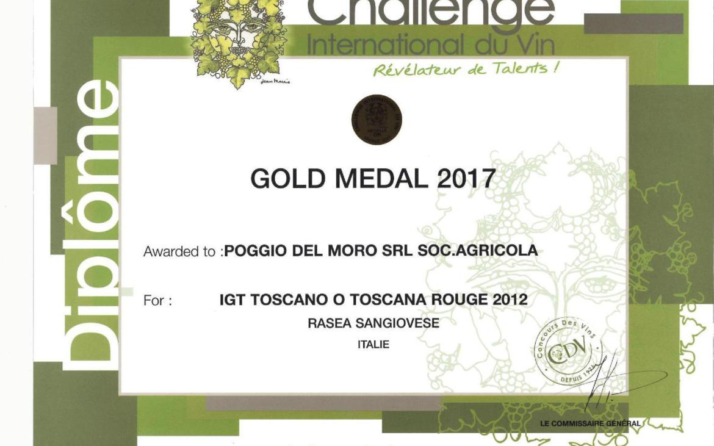 Our RASEA 100% Sangiovese 2012  took GOLD medal in Challenge International du Vin 2017, France!
