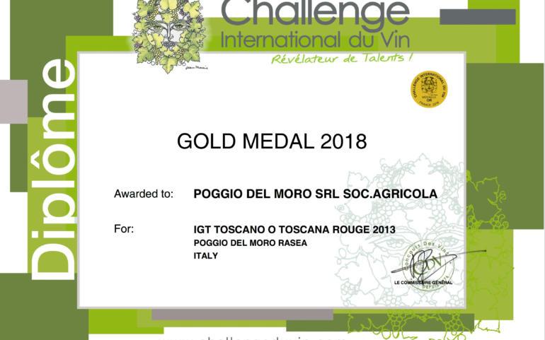 Our Chianti DOCG Riserva 2013  took GOLD medal in Challenge International du Vin 2017, France!
