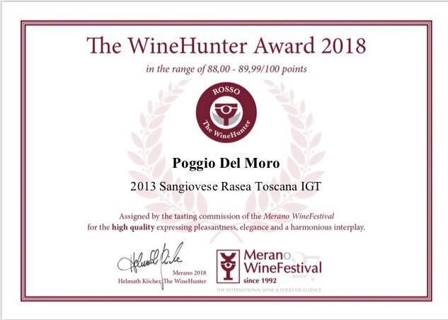 """Ancora un premio per i vini Poggio del Moro: ecco il """"The WineHunter 2018"""""""