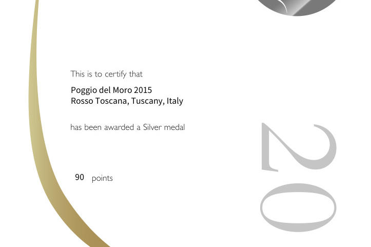 "Poggio del Moro still protagonist: here is a silver at the ""Decanter 2018"""